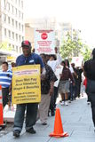 Workers are protesting on the streets of America Stock Image