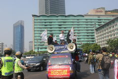 Workers rally in Jakarta Royalty Free Stock Photos