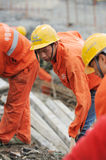 Workers are repairing road Stock Photography