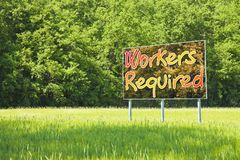 Workers required for outdoor activities - concept image stock image