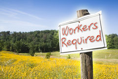 Workers required for outdoor activities. concept image. With copy space Stock Photo