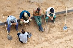 Workers on the rest royalty free stock image