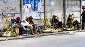 Workers resting, Indonesia Stock Image