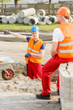 Workers resting during worktime Royalty Free Stock Photo