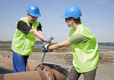 Workers by retightenig Royalty Free Stock Images