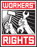 Workers rights. Worker`s rights poster, workers rights design Stock Photography
