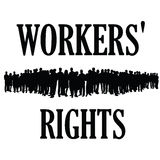 Workers rights silhouette illustraton Royalty Free Stock Photography