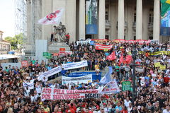 Workers of Rio de Janeiro protesting against Governor Royalty Free Stock Photography