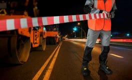 Repairing the road Stock Image