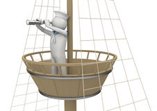 Workers - Sailor on watching platform Stock Images