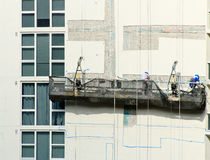 Workers on the scaffolding Royalty Free Stock Image