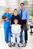 Workers senior patient Royalty Free Stock Images
