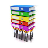 Workers sharing heavy workload Royalty Free Stock Photo