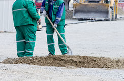 Workers with shovel Royalty Free Stock Photography