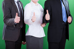 Workers showing okay gesture Stock Images