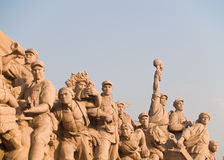 Workers Statue At Tiananmen Square Stock Photo
