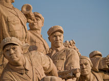 Workers Statue at Tiananmen square. In Beijing, China Stock Photography