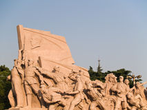 Workers Statue at Tiananmen square. In Beijing, China Royalty Free Stock Image