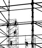 Workers on a Steel Scaffold Stock Images