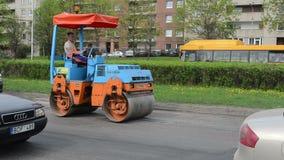 Workers street repair stock video footage