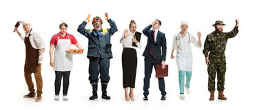 Workers strike concept stock image