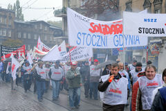 Workers strike in Poland Royalty Free Stock Image