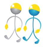 Workers team logo stock illustration
