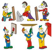 Workers with tools Royalty Free Stock Photography