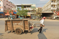 Workers transport goods Royalty Free Stock Photo