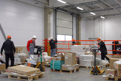 Workers in the warehouse Royalty Free Stock Image