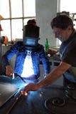 Workers welding Stock Photos