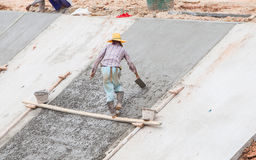 Workers were plastering. Royalty Free Stock Images
