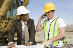 Workers Working At Construction Site Royalty Free Stock Images