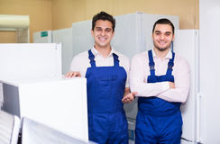Workers working at household Royalty Free Stock Images