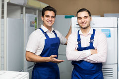 Workers working at household Royalty Free Stock Image