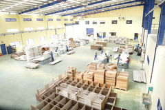 Workers are working in a wood factory for exporting Stock Image