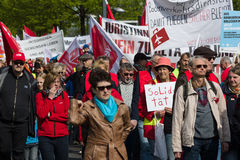 Workers&#x27 internacional; Día 1 de mayo de 2016, Berlín, Alemania Fotografía de archivo libre de regalías