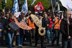 Workers&#x27 internacional; Día 1 de mayo de 2016, Berlín, Alemania Fotos de archivo libres de regalías