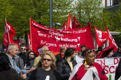 Workers&#x27 internacional; Día 1 de mayo de 2016, Berlín, Alemania Imagen de archivo libre de regalías