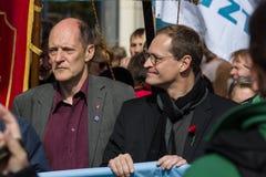 Workers&#x27 international ; Jour 1er mai 2016, Berlin, Allemagne Photo libre de droits
