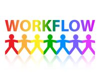 Workflow Paper People Rainbow Royalty Free Stock Photography