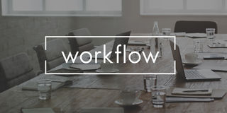 Workflow Effective Efficiency Planning Process Concept stock image