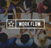Workflow Efficiency Effective Business Planning Concept Royalty Free Stock Photos