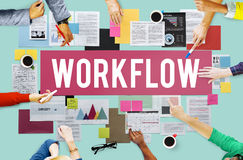 Workflow Efficient Business Process Procedure Concept Stock Image