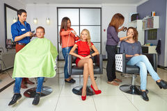 Workflow in hair salon. Royalty Free Stock Photo