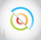 Workflow layout, diagram illustration design Royalty Free Stock Image