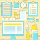 Workflow organization with bulletin Royalty Free Stock Image