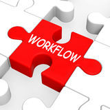 Workflow Puzzle Shows Process Flow Or Procedure Stock Photo
