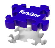 Workflow Puzzle Shows Structure Flow Royalty Free Stock Images