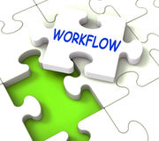 Workflow Puzzle Shows Structure Process Flow Royalty Free Stock Photo